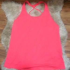 Hot pink workout top. NWOT